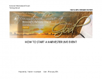 How to start a live event