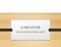HARVESTER partners powerpoint